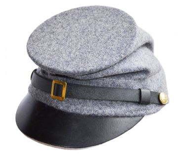 Confederate Plain Grey Forage Cap With McDowell Peak